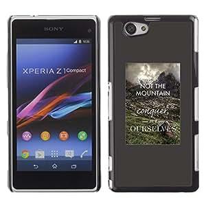 Cubierta protectora del caso de Shell Plástico || Sony Xperia Z1 Compact D5503 || Inspiring Smart Quote @XPTECH