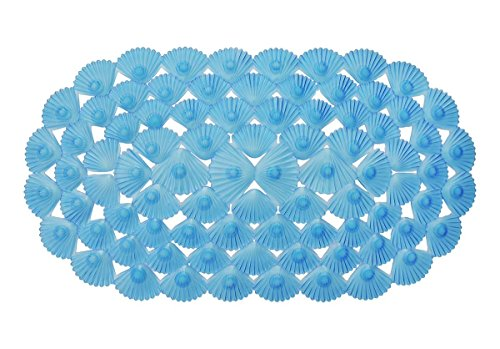 """27""""x15"""" Non Slip Bath Mat Oval Blue 
