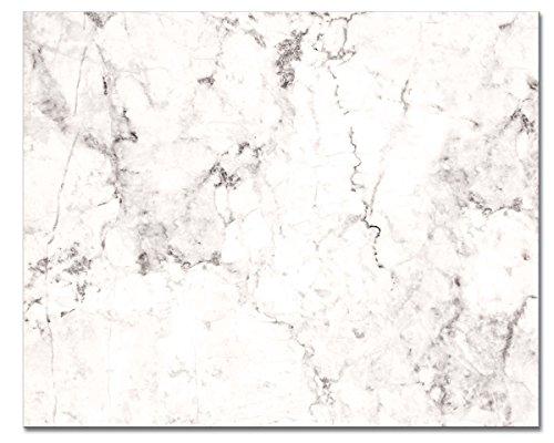 CounterArt 'White Marble' Glass Cutting Board, 15 x (Glass Cheese Board)