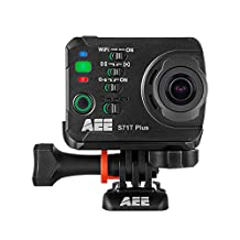 AEE Technology S71T Plus Slow-Motion Action Camera Waterproof Case LCD Touchscreen - Black (1080p, 16 MP, WiFi, 120fps)