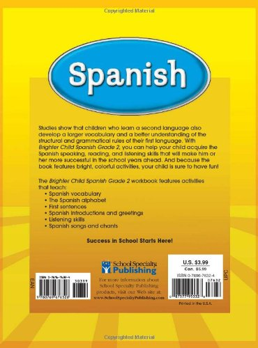 Spanish, Grade 2 (Brighter Child Workbooks): Brighter Child ...