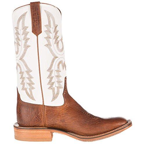 Anderson Bønne Menns Ri Klar Cognac 14 Hvit Topp Cowboy Boot Sjokolade