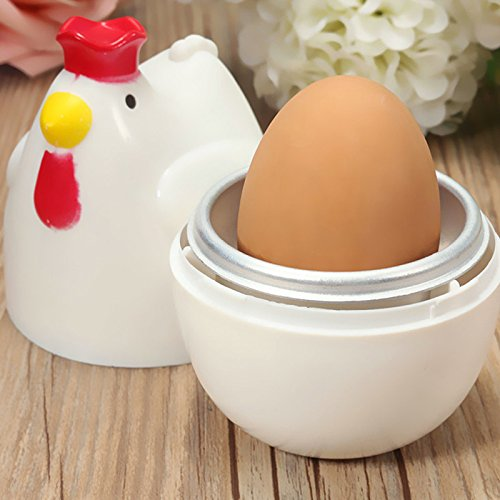 Sonata 1 Piece Shower (JD Million shop Chicken Shaped 1 Egg Boiler Steamer Poacher Microwave Egg Cooker Cooking Tool Kitchen Gadget Accessories Tools)