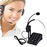 BizoeRade Call Center Dialpad Monaural Corded Headset Telephone with Noise Cancellation, Pc Recording Function Ideal for Small Offices and Home-based Agents
