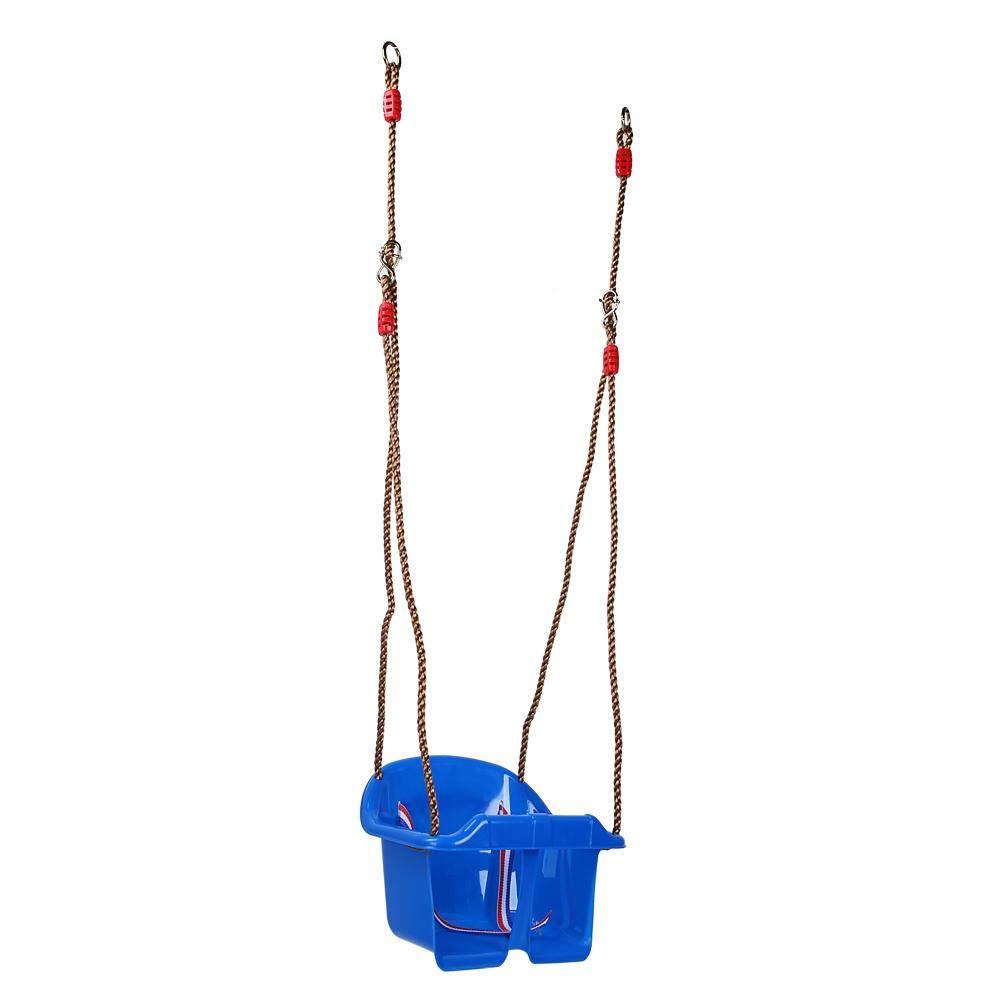 Low Back Safety Swing Seat Adjustable Outdoor Garden Swing Seat Toddler Swing Chair lahomie Baby Swing Seat Toy Blue