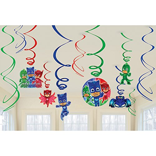 Amscan PJ Masks Birthday Party Hanging Decoration Swirls (Birthday Hanging Party Decorations)