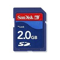 SanDisk Tarjeta de memoria flash SD de clase 4 de 2GB- SDSDB-002G-B35 (la etiqueta puede cambiar)