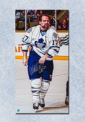 Wendel Clark Toronto Maple Leafs Autographed Fight Champion Art 14x28  Canvas  Amazon.ca  Sports   Outdoors b2ddc51ea