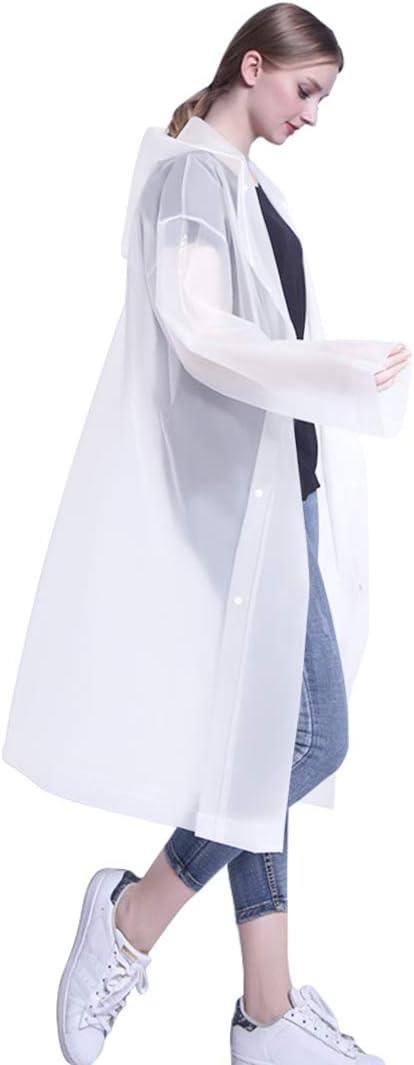 3Pacchi Eva Riutilizzabile Giacca da Pioggia Unisex LAMA Poncho Impermeabile,