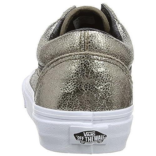 5977dd30e6 outlet Vans Old Skool Metallic Leather Bronze Black - promotion ...