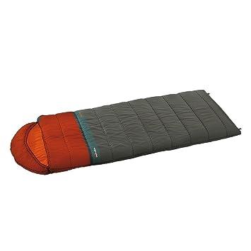 Wilsa Outdoor - Saco de dormir Trekking 0 ° 230 x 80 cm Gris/Rojo, Vanoise 230 102021: Amazon.es: Deportes y aire libre