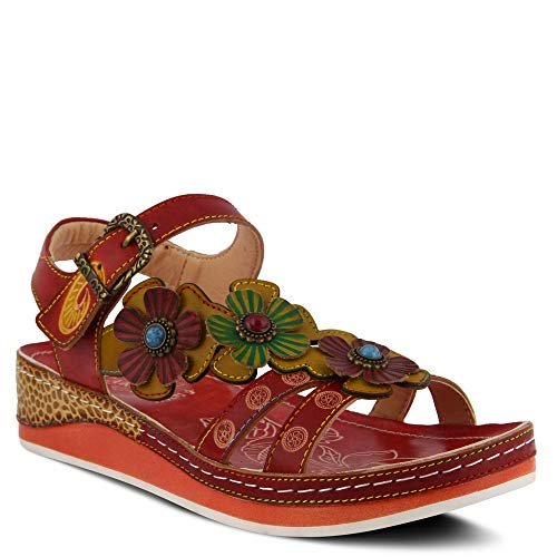 (L'ARTISTE Women's by Spring Step, Goodie Slide Sandals Red 42 M EU)