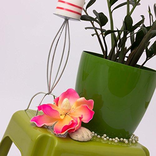 Prosperplast Maceta de Flores COUBI de plastico Redonda Altura 26 cm Capacidad 13 L Verde: Amazon.es: Jardín