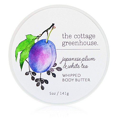 Sugar Plum Cottage - The Cottage Greenhouse - Japanese Plum & White Tea Whipped Body Butter, 5.5oz | A Paraben Free, Gluten Free, Cruelty Free and Moisture Rich Whipped Body Butter