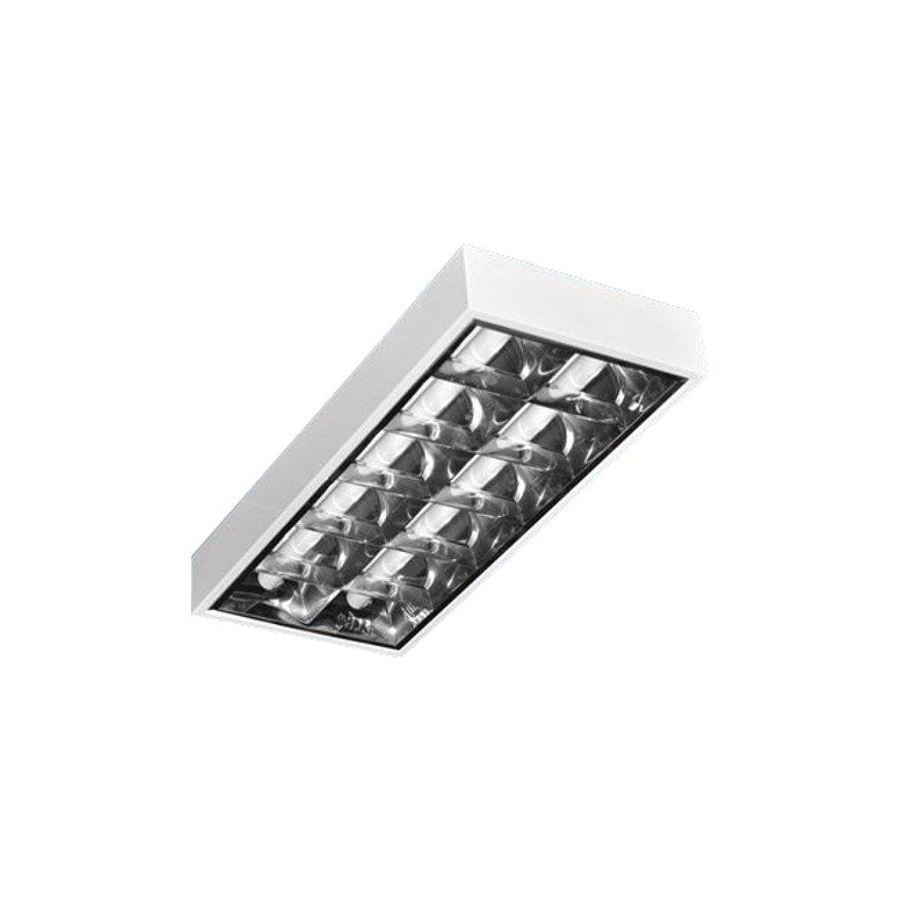 PureLed LED Rasterleuchte geeignet für 2x LED 60cm T8 Rasterlampe Bürolampe Deckenleuchte