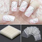 iDealhere 30 x Fleur Dentelle 3D Nail Art Sticker Autocollant Décoration