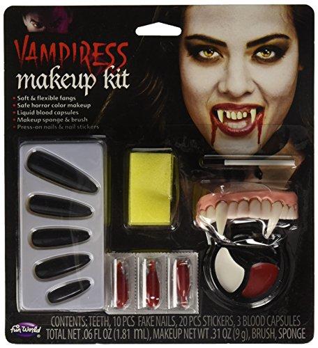 Fun World Unisex-Adult's Vampiress Makeup Kit Halloween Accessory, Multi Standard -