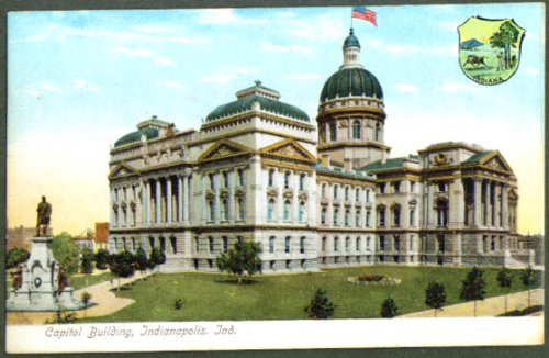 - Capitol Building Indianapolis IN undivided back postcard 1900s