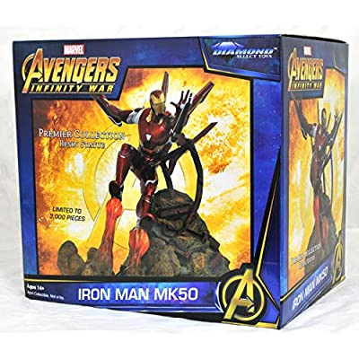 DIAMOND SELECT TOYS Marvel Premier Collection: Avengers Infinity War: Iron Man Mk50 Resin Statue: Toys & Games