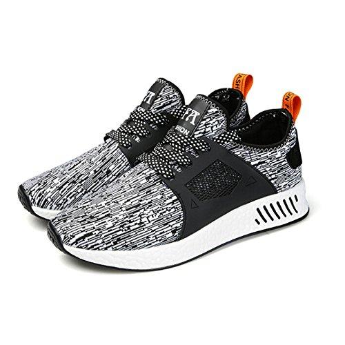 La stabilité des hommes chaussures de course pour hommes Femmes chaussures de plein air Anti-Slippery filet respirant chaussures de sport hommes chaussures noires Gray 1gDjTsk
