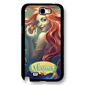 The Little Mermaid Ariel Classic Disney Cartoon Movie Hard Plastic Phone Case Cover for Samsung Galaxy Note 2 - Black