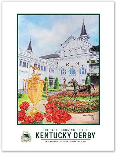 Kentucky Derby 145 Official Poster 2019, 18''x24'', unframed (145th ()