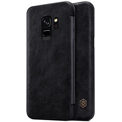 Nillkin Qin Series Royal Leather Flip Case Cover for Samsung Galaxy S9 Plus  Black