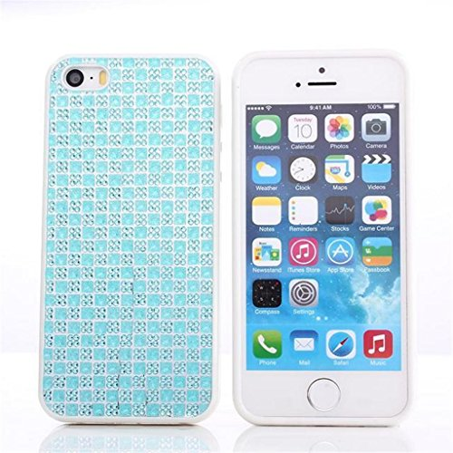 iPhone 5G/5S Hülle, Apple iPhone 5G/5S Hülle Lifetrut® [Blau] TPU Case Schutzhülle Silikon Ultradünnen Anti-stoß sehr dünne case