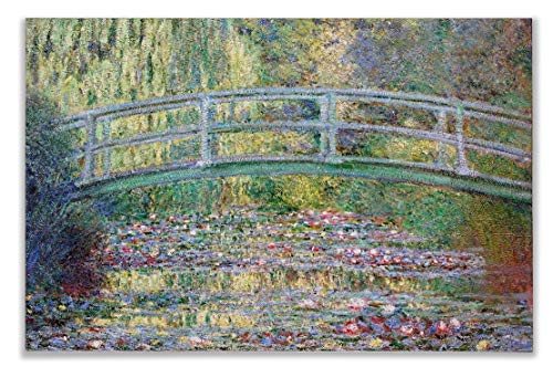(Monet Wall Art Collection The The Japanese Bridge (The Water-Lily Pond), 1899 07 Canvas Prints Wrapped Gallery Wall Art | Stretched and Framed Ready to Hang 36X48,)