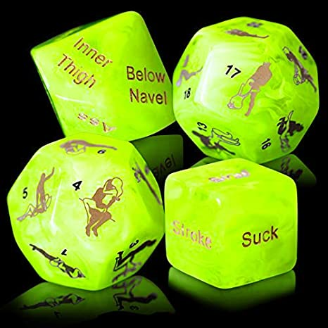 Glow In The Dark Adult Love Dice Game Set For Couples Group Bachelor Party Toy