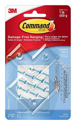 Command Jewelry Rack, Clear, 2-Jewelry Racks