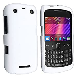 Insten® Snap-on Rubberized Case Compatible with BlackBerry Curve 9350 / 9360 / 9370, White