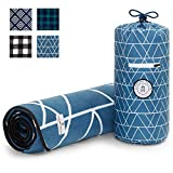 Blue Green Picnic & Outdoor Blanket by Laguna Beach Textile Co | Plush and Water-Resistant Outdoor Mat - Perfect for Camping, Beach, Park and Festivals | Foggy Peaks