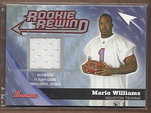 2006 Bowman Rookie Rewind Jerseys #BRRMW Mario Williams B Game-Worn Jersey Card (Williams Jersey Mario)