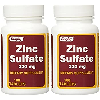 Amazon Com Zinc Sulfate Tabs 220mg 100 Tablet Health Personal Care