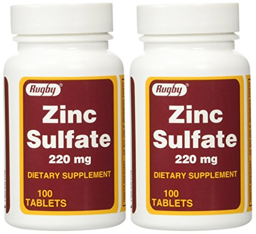 Zinc Sulfate 220 mg Dietary Supplement Tablets - 100 ea (Pack of 2) (Mg Tab 220)