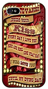 """iPhone 6 (4.7"""") Want to vanish inside your kiss. Every day I love you more and more - black plastic case / Walt Disney And Life Quotes"""