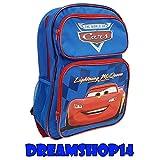Disney Pixar Cars Child Size Convertible Three Zipper Pocket Backpack- Lightning McQueen (Blue)