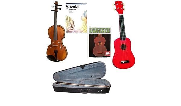 Pack de ukelele para niños de 4 a 6 años de edad, violín y ukelele ...
