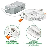 6PK 4 Inch Slim LED Downlight, Dimmable, 9W
