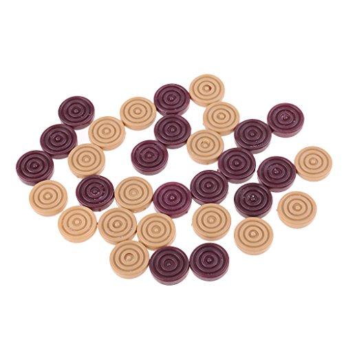 [해외]dailymall Plastic Backgammon Checkers Set 0.59 inch Wooden and Red for Supplement or Replacement of Lost Checkers Game Pieces / dailymall Plastic Backgammon Checkers Set, 0.59 inch, Wooden and Red for Supplement or Replacement of L...