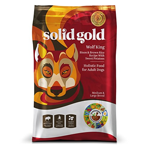 Solid Gold Large Breed Dry Dog Food; Wolf King with Real Bison & Brown Rice; 24 lb