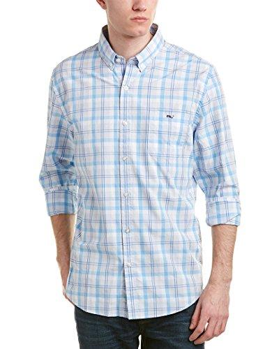 Stony Bay (Vineyard Vines Mens Stony Bay Plaid Slim Fit Tucker Woven Shirt, XL, Blue)