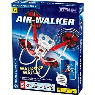Thames & Kosmos Air-Walker Gravity-Defying Wall-Walking Robot Science Experiment Kit, 5 Robotic Models for Ages 8+