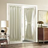 Curtains for French Doors Aquazolax Plain Blackout Curtains French Door Panels Premium - 1 Piece, 54