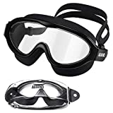 Aegend Adult Swim Goggles, 180° Wide Vision Swimming Goggles, No Leaking Anti-Fog UV Protection Swim Goggles Mask for Adult Men Women