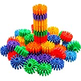 MICHLEY Colorful Interlocking Building Roller Blocks Play Kids Gears Toys
