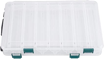 Double Sided Fishing Lure Bait Tackle Storage Box Plastic S4G3 Case T1B6