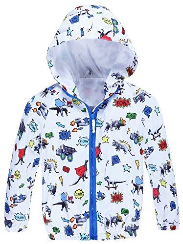 Jingle Bongala Sunnysame Boys Lightweight Hooded Jacket Dinosaur (Boys Lightweight Hooded Jacket)
