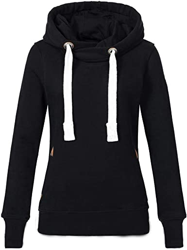 Women Long Sleeve Hoodies Pullover Teen Girls Sweatshirts Solid Color Shirts Sweater Blouse Tops